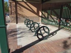 Baseball Bicycle Racks at Scottsdale Stadium -- Scottsdale, AZ, March 08, 2016 (baseballoogie) Tags: arizona baseball stadium az giants scottsdale ballpark springtraining sanfranciscogiants cactusleague baseballpark scottsdalestadium 030816 canonpowershotsx30is baseball16