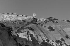 Fort Chambray, Gozo (kurjuz) Tags: blackandwhite rocks malta clay fortifications gozo slopes fortchambray xattlahmar