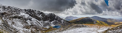 Pano From Mount Snowdon (SinthSiva) Tags: sky panorama mountain lake nature water wales clouds landscape nikon pano sigma mount snowdon 1750 grassland cloudscape mountainscape d5200