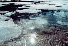 ICE CRACKS (Lorenzo Scudiero) Tags: winter light lake snow abstract mountains cold film ice nature water analog 35mm river wonder sand nikon ngc adventure explore filmcamera filmphotography filmisnotdead lorenzoscudiero