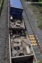 CPW's, Kildare, 12/5/16 (hurricanemk1c) Tags: irish train rail railway trains railways irishrail cpw kildare dfds 2016 iarnrd ireann containertrain detforenededampskibsselskab iarnrdireann containerpocketwagon 1105ballinawaterford
