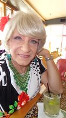 A Woman And Her Margarita (Laurette Victoria) Tags: woman bar necklace dress cocktail milwaukee blonde laurette