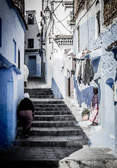 Light and shadow (Pamela Sia) Tags: chaouen chefchaouen streetphotography morocco travel arquitecture blue light shadow