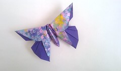 Butterfly for Kyoto (Charul's Origami) Tags: square origami paperfolding michaellafosse origamibutterfly