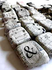 work in progress (Ines Seidel) Tags: paper newspaper words pattern workinprogress shapes wip papier muster zeitung formen