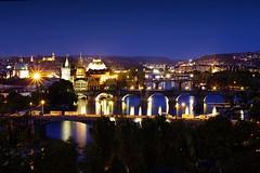 Bridges of Prague (ke0ky) Tags: night prague nacht bridges prag vltava brcken langzeitbelichtung moldau