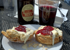 Scone, Clotted  Cream, Jam, Wine, Ginger Beer in the Sun (Tony Worrall Foto) Tags: show uk england food make menu yummy nice dish wine photos tag leeds cook tasty plate eaten things images x made event eat foodporn add meal scone taste annual dishes cooked tasted jam gingerbeer grub westyorkshire harewoodhouse iatethis foodfestival foodie flavour countryhouse harewood plated foodpictures ingrediants picturesoffood photograff foodiesfestival foodophile greatbritishfoodfestival 2016tonyworrall