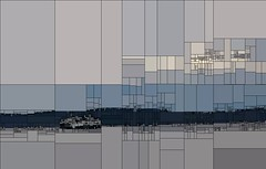 recursive mozaic: west seattle view (doc_tor_matt) Tags: seattle ferry pugetsound recursive mozaic processingorg