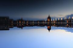 Blue hour reward (Frdric THIBAUD Photo) Tags: blue evening reflet hour toulouse soir reflexion garonne heure bleue