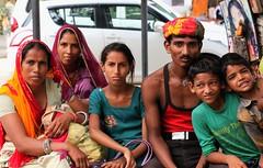 family of pilgrims - Pushkar - India (raffaele pagani) Tags: india lake canon pushkar rajasthan ghat sacredwater sacredlake