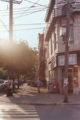 Corner Portrait 2 (nroclaniffirg) Tags: street film analog fuji superia montreal 400 end mile xtra promaster pakon