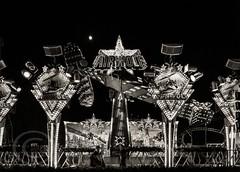 London Nov 2015 (7) 081 - Winter Wonderland in Hyde Park (Mark Schofield @ JB Schofield) Tags: park christmas street city winter england white black london monochrome canon fairground carousel hyde oxford rides nightlife wonderland stalls 5dmk3