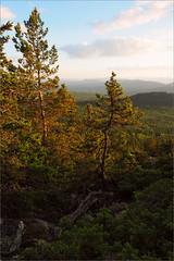 (There) (Kirill & K) Tags: trees sunset summer cloud sunlight mountain nature rock stone pine forest landscape evening         bashkiria   iremel    southernural