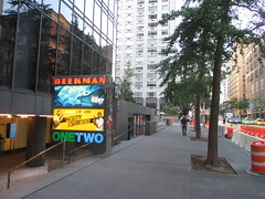 Beekman Theater - first time without a construction fence since forever 1471 (Brechtbug) Tags: ocean new york city nyc sea fish streets film water june fence computer movie poster marquee construction theater finding time theatre first disney since line billboard lobby 2nd story pixar animation billboards forever animated aquatic avenue without dory between based marquees the 66th beekman standee 67th 06182016