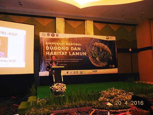 Sesditjen of PRL, Mr. Agus Dermawan is opening the Symposium