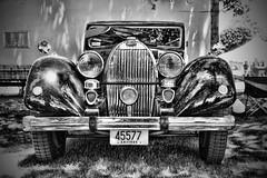 Not a Veyron but still a Bugatti (Silverio Photography) Tags: bugatti classic vintage beautiful car show blackandwhite bnw canon 60d topaz adjust photoshop elements sigma 1770 massachuetts newengland medfield suburb