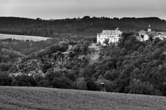 Wolkenstein Castle (redfurwolf) Tags: blackandwhite bw castle rock germany europe saxony wolkenstein oremountains sonyalpha sal70200g2 redfurwolf
