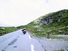 Pitstop in mountains. (topzdk) Tags: norway mc motorcycle honda bmw 2016 summer austagder vestagder nature
