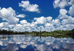 clouds reflected (LotusMoon Photography) Tags: park summer sky lake nature water clouds reflections outdoor annasheradon