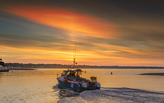 Off To Sea (nicklucas2) Tags: boat mudeford quay sea seascape seaside solent sun sunrise water