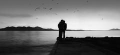More than a Selfie (Thomas +/-) Tags: kai pier sea person men man selfie bw outdoor
