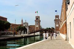 Navy at Fondamenta De L, Arsenal Venice - Italy. (hanna_astephan) Tags: venezia venice italia italy travel canal navy architecture fondamentadelarsenal