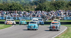 What is the collective noun for Austin A35s? (Jez B) Tags: goodwood revival 2016 historic race racing car motor auto sport motorsport vintage 40s 50s 60s 1940s 1950s 1960s circuit austin a30 a35 first lap madgwick st saint marys trophy