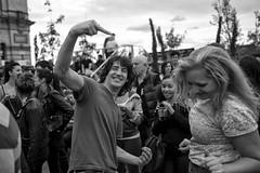 Dance Couple (Foto John) Tags: leicam240 leicam leica leicamtyp240 rangefinder summicronm35mmf2asph blackwhite blackandwhite blackandwhitethatsright monochrome streetphotography festival beerfestival allypally alexandrapalace people dancing man woman london uk