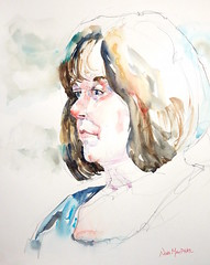 Portrait Study in Watercolour (Nora MacPhail) Tags: noramacphail art painting people portrait portraits face faces life figure drawing sketch sketching study watercolour watercolor pencil donvalleyartclub foresthillartclub