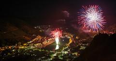 Weinfestfeuerwerk in Cochem/Mosel (oblakkurt) Tags: feuerwerk nachtaufnahmen mosel