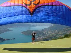 2nd FAI World Paragliding Aerobatic Championships (FAI - World Air Sports Federation) Tags: 10519 fai fdration aronautique internationale world air sports federation paragliding civl aerobatics championship france montmin doussard landscape outdoor lake annecy