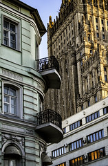architecture and styles (Lyutik966) Tags: architecture building house window detail balcony structure texture design moscow street