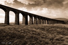 Ribblehead Viaduct (Forty-9) Tags: structure viaduct forty9 2016 blackandwhite tomoskay bw lightroom efslens canon yorkshire eos60d yorkshiredales lightroommobile efs1022mmf3545usm ribblehead landscape august holiday ribbleheadviaduct