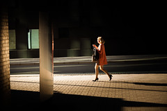 (Svein Nordrum) Tags: street streetphotography light shadow woman walking oslo decisive people contrast explore