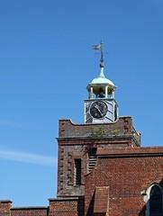 Saint Peter and Saint Paul Church in Fareham, Hampshire (DomLock) Tags: elements saint peter paul church fareham hampshire tower churchtower bluesky sky clock weathervane cofe england churchofengland