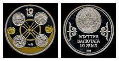 "(KGS4b) 2003 Kyrgyzstan: Memorial dedicated to the ""10 years of the National Currency of the Kyrgyz Republic, Ten Kyrgyzstani Som (A/R) ... (Jos Pestana) Tags: aasia airgid arian asia asie asi asya azi azija azio azi azja chelete currency denominacin dinero dinheiro faluta fedha flus fotografa jospestana kgs kudin kyrgyzstan mari moeda moneda moned money moni monnaie mynt osiyo paises para pengar pera simbolo soldi somkirgus sony sonynex sonynex6 valta coins monedas nyvola chu sia zie zsia zija    narynregion kirguistn"