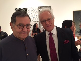 Mega collector Marty Margulies with Michael Poliakov at the Lowe Museum opening