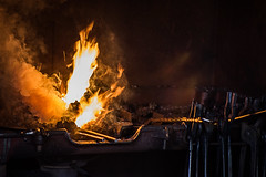 Too Many Irons in the Fire (Prestidigitizer) Tags: burnabyvillagemuseum vancouver blacksmith smithy forge coal fire antique vintage pentaxk3 pentaxda50135mm heat flame
