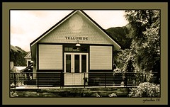 Telluride 2000-2 (the Gallopping Geezer 3.7 million + views....) Tags: old bw white black mountains building film canon rockies blackwhite colorado 2000 rocky structure historic mining telluride toned geezer corel toohelluride