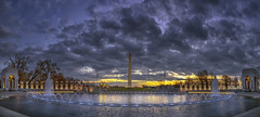 WWII Memorial Dawn Pano (D. Scott McLeod) Tags: panorama dawn washingtondc dc districtofcolumbia washingtonmonument wwiimemorial scottmcleod dramaticclouds dscottmcleod