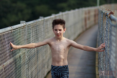 The Ballet Boy (jamiemonsteroo) Tags: bridge blue boy ballet water forest scotland scottish perth