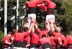 Human tower (Castell), Barcelona, Spain (maxunterwegs) Tags: barcelona españa spain espanha catalonia catalunya espagne cataluña spanien barcelone castell katalonien catalogne humantower catalunha