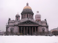 Isaac's Cathedral, Issakievski Sobor, St. Petersburg (leonyaakov) Tags: travel winter white holiday snow cold ice monument finland stpetersburg cool cathedral russia promenade citytour