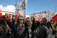 Protest march in Athens, Greece (paul.katzenberger) Tags: protest athens greece demonstrators eurocrisis