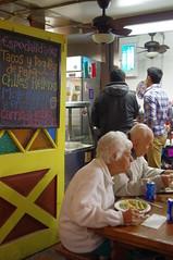 Older Couple Enjoying Outside Dining (Joey Z1) Tags: losangeles streetscene oldercouple alfrescodining mexicandinner chilerellenos olverastlosangeles laasseenbyjoeyz1 nightscenelosangeles urbanlifelosangeles