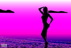 XOKA9162b2s (forum.linvoyage.com) Tags: sea girl fluorescent outdoor water sunset seaside serene bright surreal sexy slim ocean beach девушка секс секси океан море стройная пляж таиланд пхукет phuketian baby babe fitness bikini young