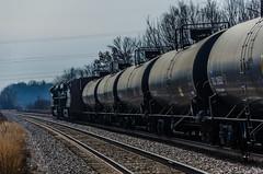 Heading into the curve (photo-engraver1) Tags: railroad wisconsin train norfolk traintracks southern transportation oil trainspotting racine