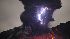 Volcanic Lightning in Kyushu (aka the Dirty Thunderstorm) (4K and 2K Wallpapers) Tags: wallpaper scenery widescreen hires wallpapers 169 4k 2k 3840x2160 2560x1440 wqhd