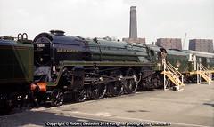 1961 - 71000 at Marylebone.. (Robert Gadsdon) Tags: geotagged steam preserved 1961 withdrawn rebuilt dukeofgloucester 71000 brstandardclass8p marylebonegoodsyard stjohnswoodpowerstation geo:lat=51526260703801405 geo:lon=016601531216429066