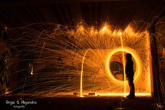 Lana de Acero (angieyalejandrofotografia) Tags: longexposure wool night fire steel fuego sparks steelwool largaexposicion lanadeacero